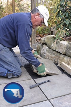 a patio builder - with Maryland icon