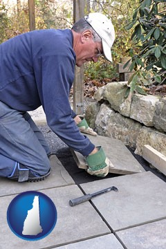 a patio builder - with New Hampshire icon