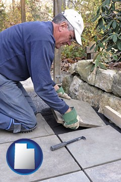 a patio builder - with Utah icon